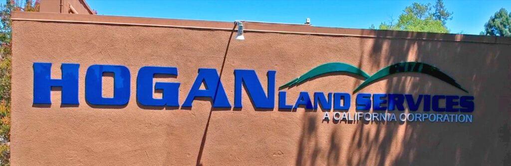 Hogan land Services Santa Rosa Sign